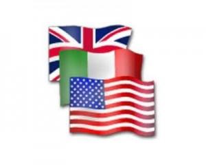 inglese italiano americano